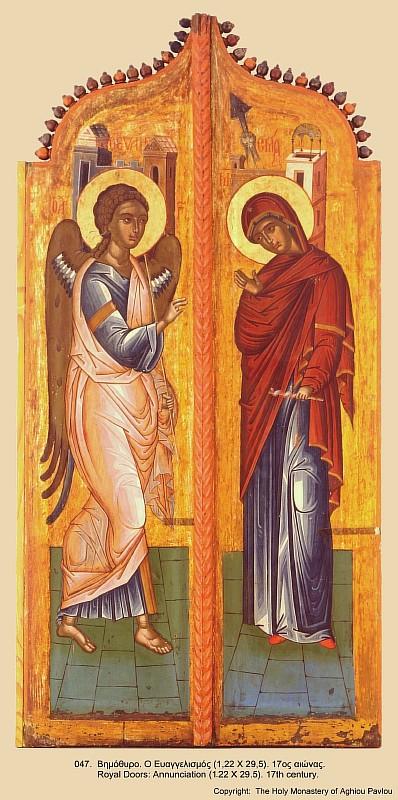 Благовещение. Афон. Иконы монастыря св. Павла (2)