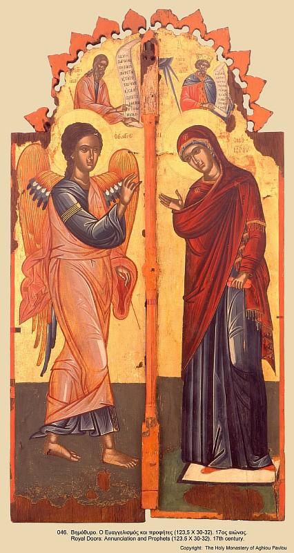 Благовещение. Афон. Иконы монастыря св. Павла