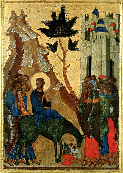 Вход Господень во Иеросалим. 1497 г. Кирилло-Белозерский монастырь