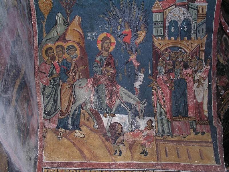 Вход Господень во Иеросалим. Кипр. М-рь Иоанна Лампадиста