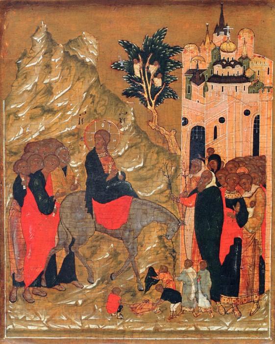 Вход Господень во Иеросалим. Москва. Конец XVI в.