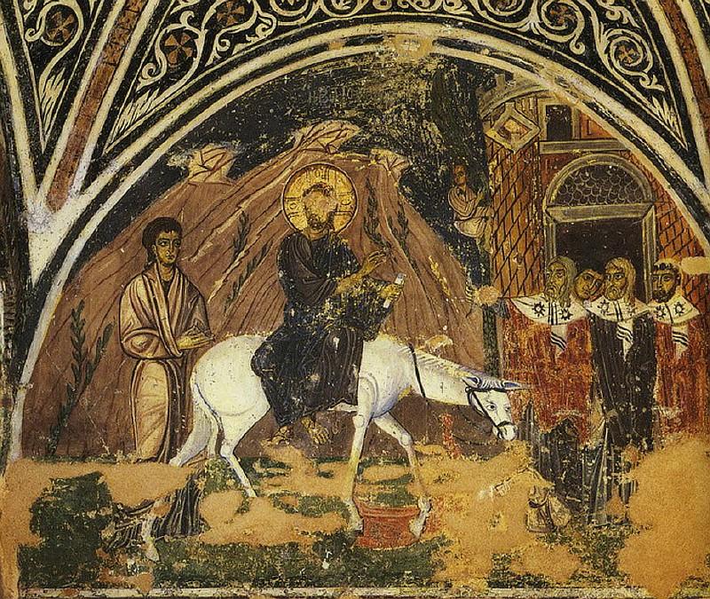 Вход Господень во Иеросалим. Осиос Лукас. XIв.
