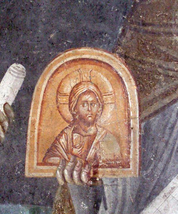 Феодор Студит и Стефан Новый. Монастырь Грачаница. 14-15 век (фрагмент)