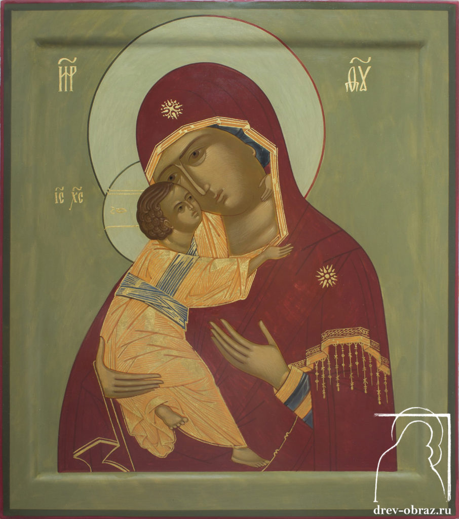 Купить писанную икону Богородицы Влаждимирской