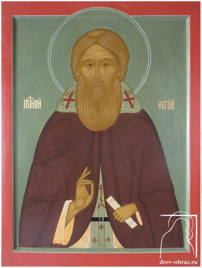 Купить писанную икону Сергия Радонежского